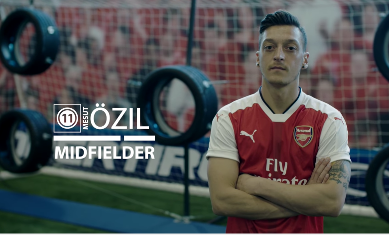 """My Left Is Enough"" - Mesut Ozil Destroys Arsenal Teammates In The Cooper Tires Challenge"